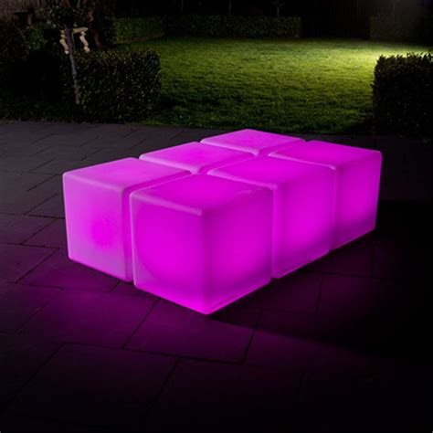color changing led outdoor light cube sp 3535