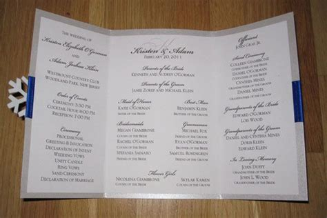 diy we love winter wedding ceremony program wedding possibilities diy wedding programs
