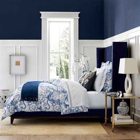 bedroom decor master room japanese bedrooms navy bedding sonoma williams printed wall indigo dream colors
