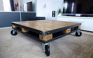 Style Industriel Salon : table basse style industriel industriel salon autres p rim tres par 2nd chance cr ations ~ Teatrodelosmanantiales.com Idées de Décoration