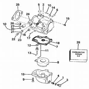 Carburetor Parts For 1987 70hp E70elcur Outboard Motor