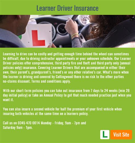 Learner Driver Insurance by Collingwood Learner Insurance Customers Contact Number