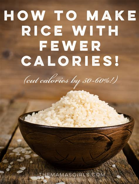 how to make rice how to make rice with fewer calories
