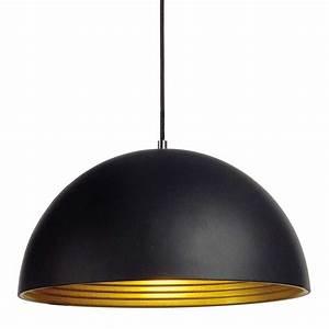Suspension Noir Et Or : suspension alu noir int rieur dor lampe avenue ~ Teatrodelosmanantiales.com Idées de Décoration