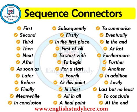 sequence connectors  english  images english