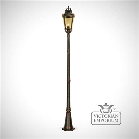 bronze pedestal lantern with l post l posts