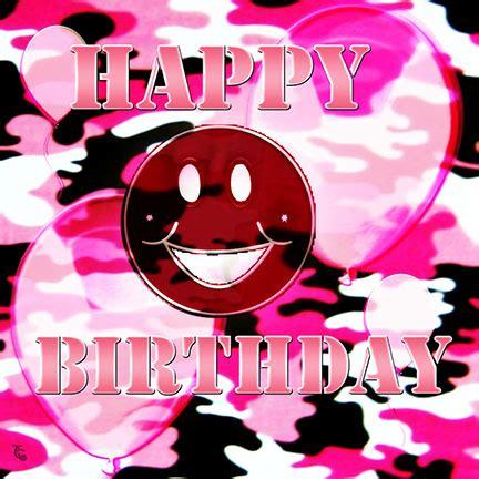 pink camo birthday smile  smile ecards greeting
