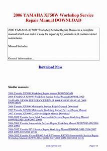 2006 Yamaha Xf50w Workshop Service Repair Manual By Hui