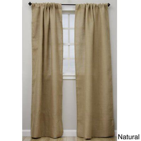lined burlap curtains open weave lined burlap 96 inch curtain panel