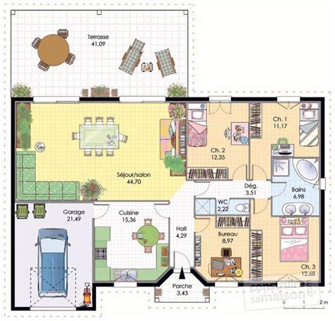 interesting cool plan maison maison dtail du plan de maison plan with plan de maison plain pied
