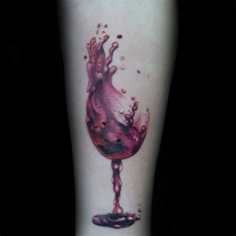 tremendous wine tattoo designs  ideas  alcohol