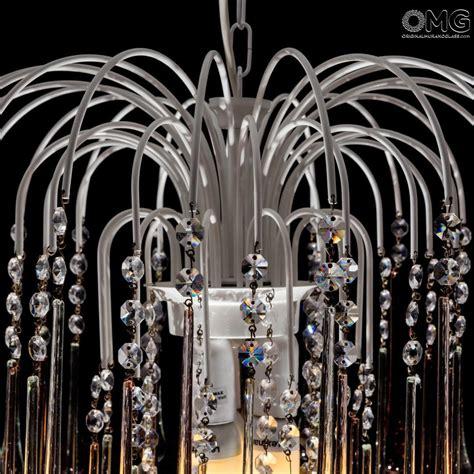 ladari a goccia di cristallo goccia ladario ambra cristallo original murano glass omg