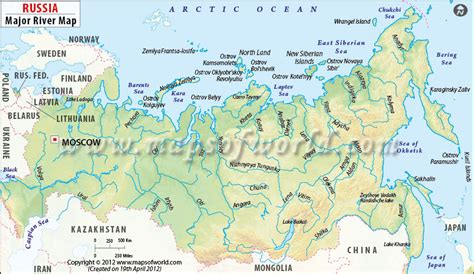 Moscow Russia Zip Code by Russia River Map Major Rivers In Russia