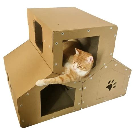 Penthouse Cardboard Cat House  Dwelling With Several