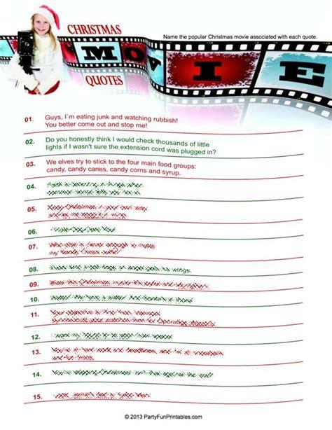 Movie Quotes Quiz Printable Quotesgram