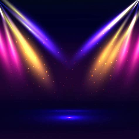 neon bar lights colorful stage lights background vector free