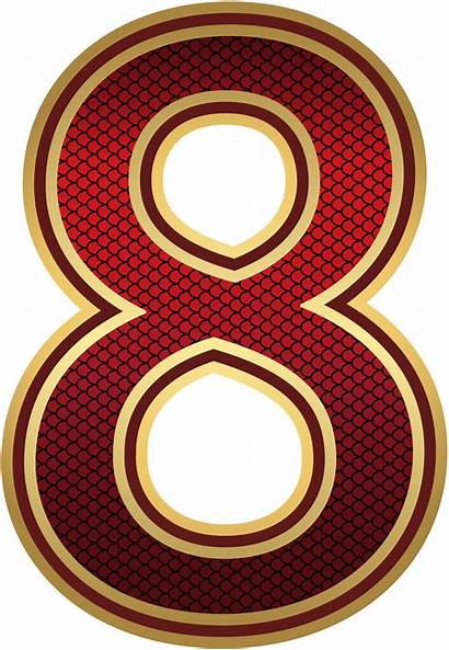 Number Eight Yopriceville Numbers Clipart Transparent Clip