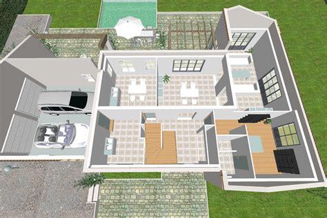 plan maison 3 chambre plain pied maison méditerranéenne 8 pièces crea02