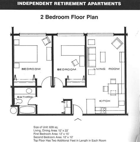 Two Bedroom Floor Plans by Small 2 Bedroom Apartment Plans Apartment Floor Plans 2