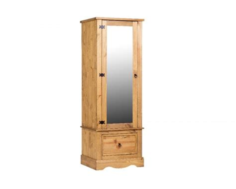 core corona pine single mirror door wardrobe  core products