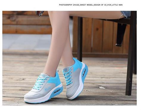 Women's Sports Toning Shoes Wedge Fitness Shoes Losing