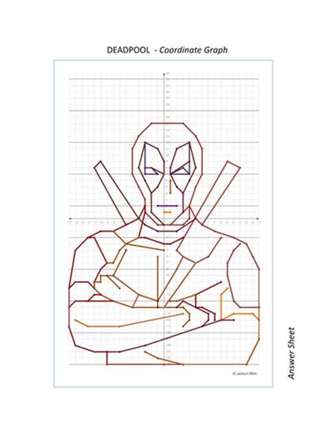 deadpool superhero coordinate graph  jmare teaching