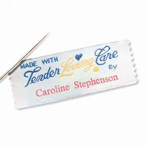 made with tender loving care by personalized sewing label With custom made sewing labels