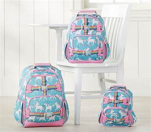 Mackenzie Aqua Unicorn Backpack Pottery Barn Kids
