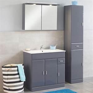meuble de salle de bain aloha 80 gris meuble de salle de With meuble salle de bain bricorama