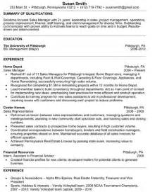 exle of college resume for internship resume exles for college freshmen