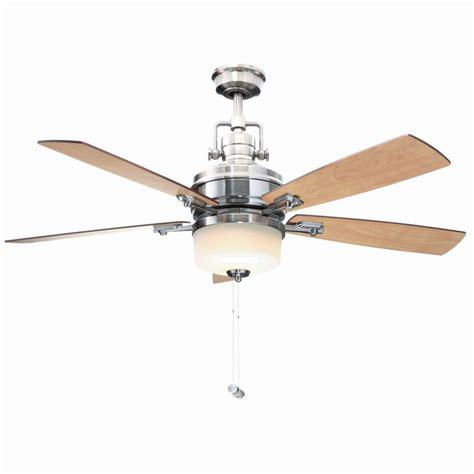 hton bay ceiling fan glass dome hton bay sedalia ii 52 in indoor brushed nickel