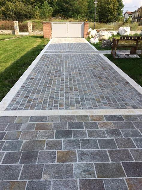 pavimento da esterno carrabile pavimento esterno in porfido squadrato realizzato a