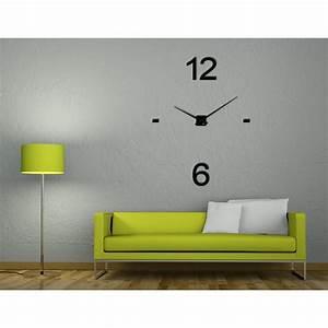 Mecanisme Horloge Geante : horloge xxl noire en plexi coller au mur minima aria25 ~ Teatrodelosmanantiales.com Idées de Décoration