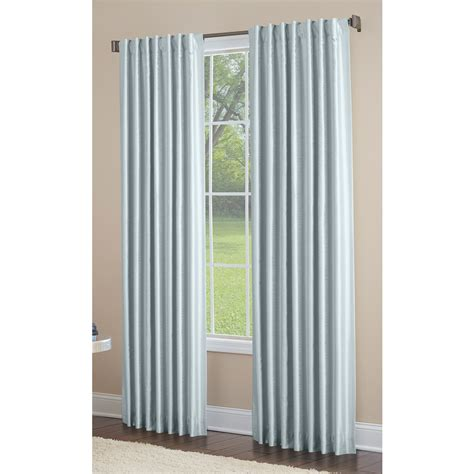 light filtering privacy curtains shop allen roth glenellen 84 in blue polyester back tab