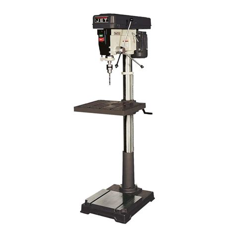 Jet Floor Standing Drill Press jet 1 hp 20 in floor standing drill press with worklight