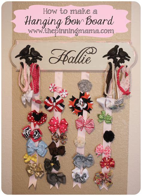 how to make a hanging l how to make a hanging hair bow board the pinning mama