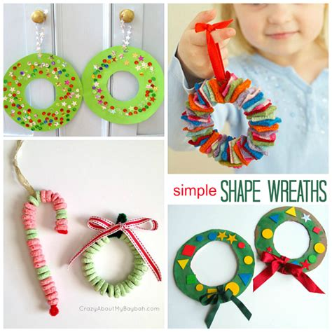 christmas wreath crafts for kids wreath craft ideas for crafty morning
