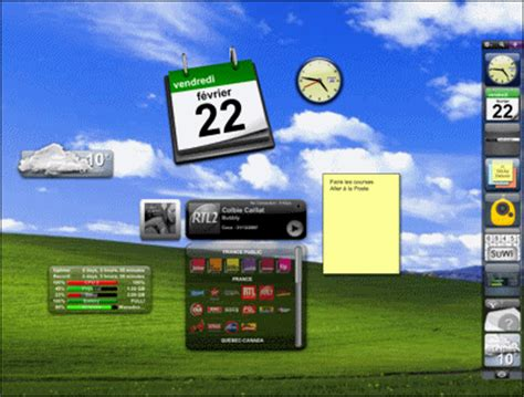 installer la meteo sur le bureau pc astuces personnaliser le bureau de windows avec des widgets