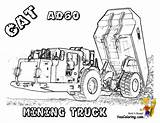 Coloring Pages Truck Construction Cat Dump Underground Gold Mine Excavator Equipment Mining Ad60 Digging Template Yescoloring Templates sketch template