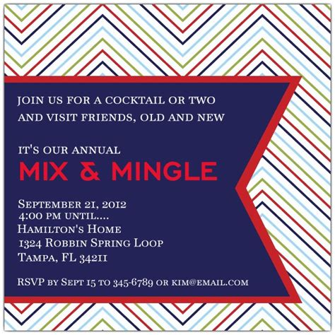 mix  mingle cocktail invitations paperstyle