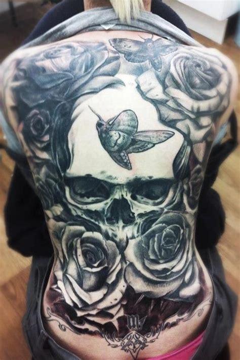 full  tattoo  skull head roses  butterflies speechless cool stuff pinterest