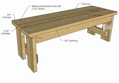 Bench Plans Diy Wood Seat Woodworking Overhang