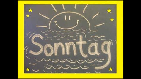 die wochentage als lied german days   week