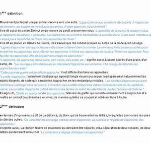 Définition Du Mot : approche la d finition ~ Medecine-chirurgie-esthetiques.com Avis de Voitures