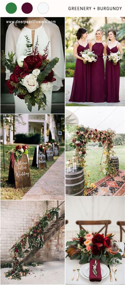 top  greenery wedding color palette ideas   deer