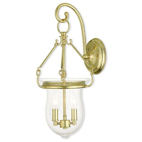Polished Brass Sconce - livex lighting canterbury 2 light polished brass sconce