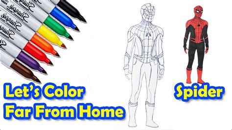 spider man   home color   draw coloring