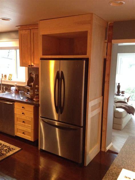 refrigerator enclosure kitchen renovation kitchen built