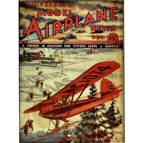 Model Airplane News Vintage Cover Poster