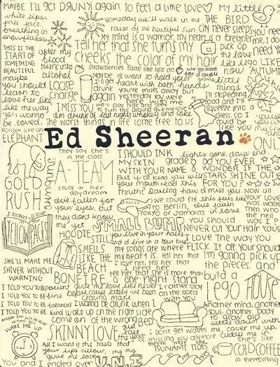ed sheeran song quotes musical influences pinterest